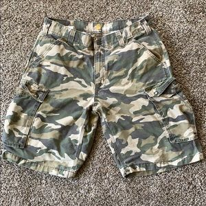 Cathartic relaxed fit camo cargo shorts